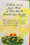 Sisters Carry Each Other in Thier Hearts Card